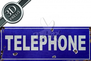 Telephone blue
